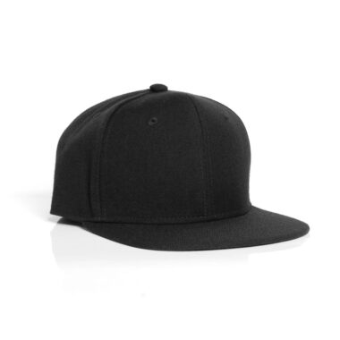 TRIM SNAPBACK CAP - BLACK