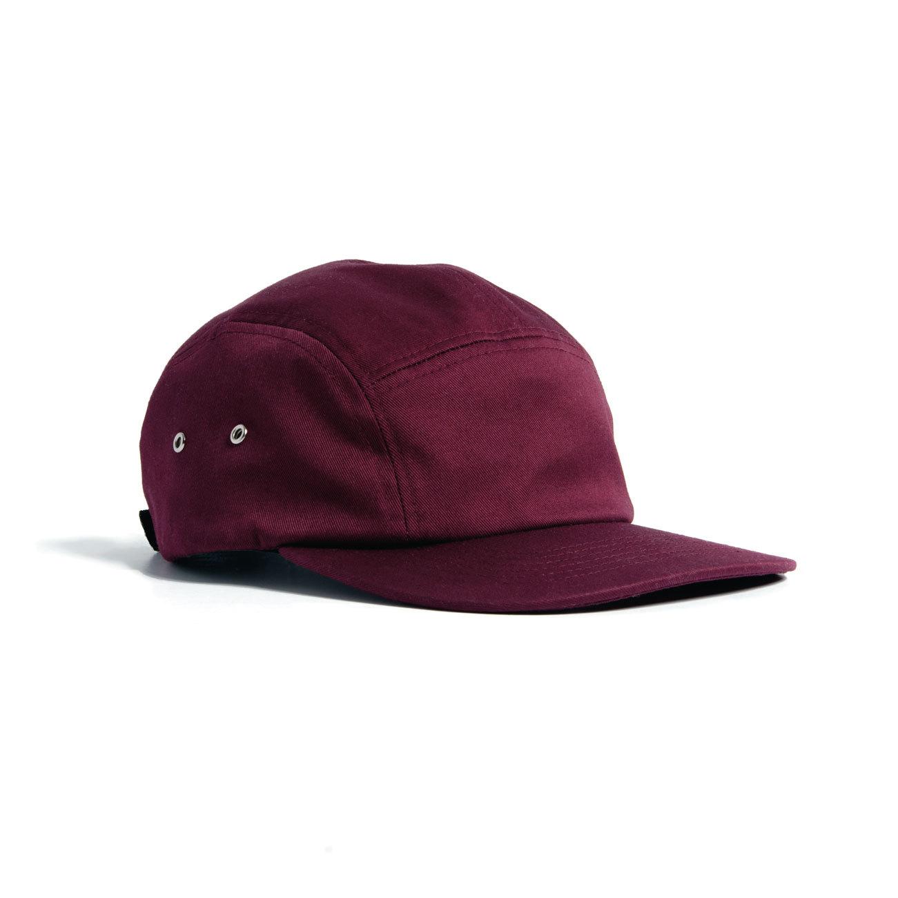 21aa61a39dbe7 FINN FIVE PANEL CAP - BURGUNDY - Nublank Caps