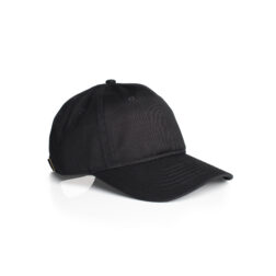 DAVIE SIX PANEL CAP - BLACK
