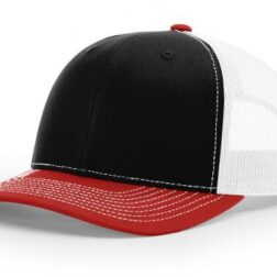 112 ›› TWILL/MESH ›› SNAPBACK BLACK-WHITE-RED