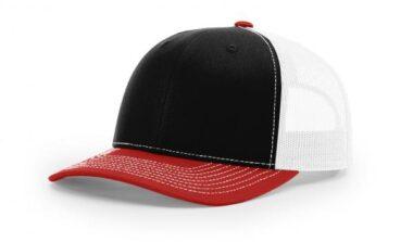 112 ›› TWILL/MESH ›› SNAPBACK BLACK-WHITE-RED