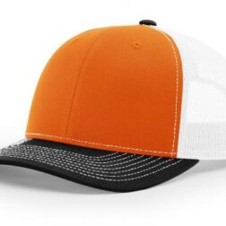 112 ›› TWILL/MESH ›› SNAPBACK ORANGE-WHITE-BLACK