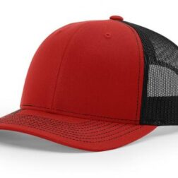 112 TWILL/MESH SNAPBACK SPLIT RED/BLACK