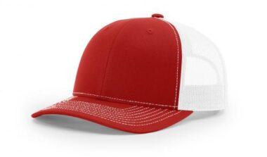 112 TWILL/MESH SNAPBACK SPLIT RED/WHITE