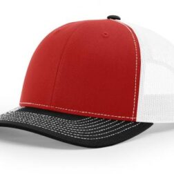 112 ›› TWILL/MESH ›› SNAPBACK RED-WHITE-BLACK