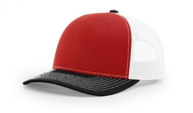 112 ›› TWILL/MESH ›› SNAPBACK RED-WHITE-BLACK