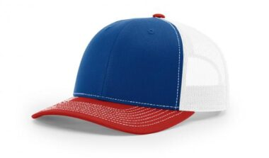 112 TWILL/MESH SNAPBACK ROYAL/WHITE/RED
