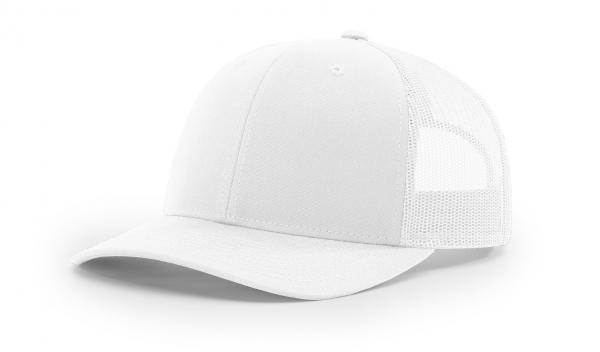 e7bd869d4b8 112 TWILL MESH SNAPBACK WHITE - Nublank Caps