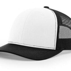 112 TWILL/MESH SNAPBACK WHITE/BLACK