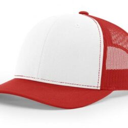 112 TWILL/MESH SNAPBACK WHITE/RED