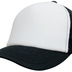 Kids Trucker Mesh Cap - White/Black