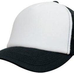 Kids Trucker Mesh Cap - White/Black