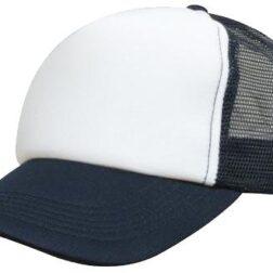 Kids Trucker Mesh Cap - White/Navy
