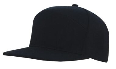 A Frame American Twill Structured 6 Panel - Black