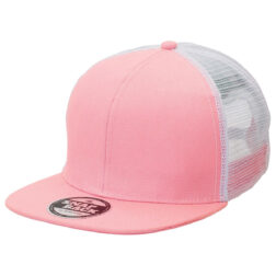 Byron Youth Snapback Trucker - PINK/WHITE flat peak
