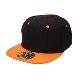 Byron YOUTH URBAN SNAPBACK - BLACK/ORANGE flat peak