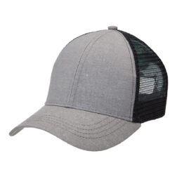 Hemp Trucker - Charcoal/Black