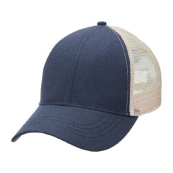 Hemp Trucker - Navy/Natural