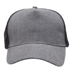 Heathered Mesh Trucker - Charcoal Heather/Black