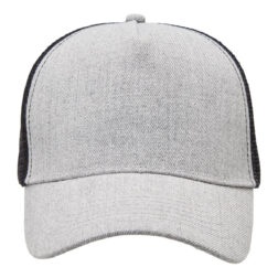 Heathered Mesh Trucker - Grey Heather/Black