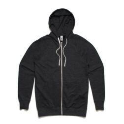 MENS TRACTION ZIP HOOD - ASPHALT_MARLE