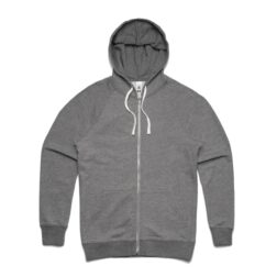 MENS TRACTION ZIP HOOD - STEEL_MARLE