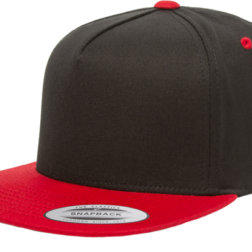 YUPOONG CLASSIC 5 PANEL MODEL # 6007T - BLACK RED