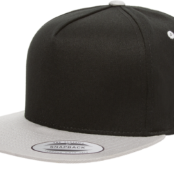 YUPOONG CLASSIC 5 PANEL MODEL # 6007T - BLACK SILVER