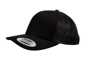YUPOONG CLASSIC RETRO TRUCKER MODEL # 6606 - BLACK