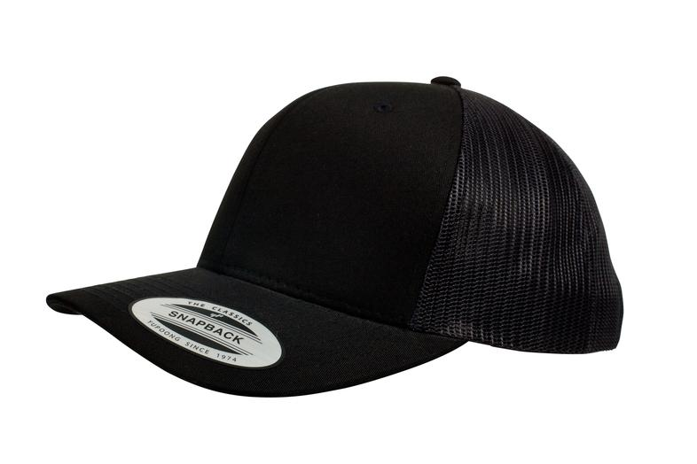 YUPOONG CLASSIC RETRO TRUCKER MODEL   6606 - BLACK - Nublank Caps 3a83dba349d