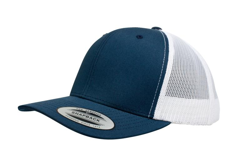 YUPOONG CLASSIC RETRO TRUCKER MODEL   6606T - NAVY WHITE - Nublank Caps 331c103c0a2