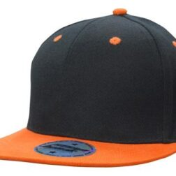 Newport Youth Size Black/Orange Premium American Twill with Snap Back